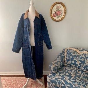 Vintage Spencer Douglas Denim Trench Coat